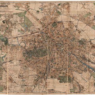 Grosser Verkehrs-Plan von Berlin mit seinen Vororten