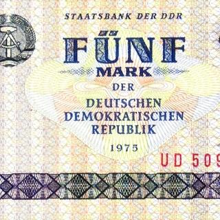 Banknote: Fünf Mark der Deutschen Demokratischen Republik
