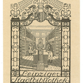 Exlibris Leipziger Stadtbibliothek