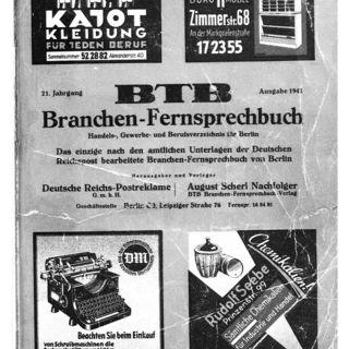 Amtliches Fernsprechbuch für den Bezirk der Reichspostdirektion Berlin (1941) / hrsg. von d. Reichspostdirektion Berlin. Branchen-Fernsprechbuch
