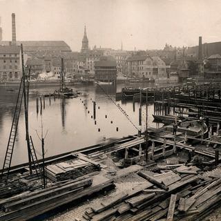 U-Bahn-Bau entlang der Spree 1910