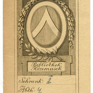 Exlibris Bibliothek Krzemusch