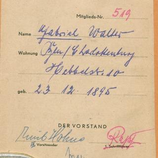 Mitgliedsausweis Berliner Küchenmeister-Innung