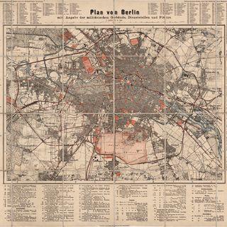 Plan von Berlin : mit Angabe der militärischen Gebäude, Dienststellen und Plätze