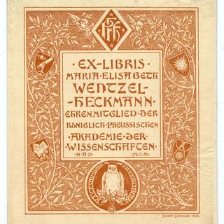 Exlibris Maria Elisabeth Wenzel-Heckmann