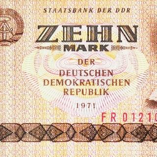 Banknote: Zehn Mark der Deutschen Demokratischen Republik