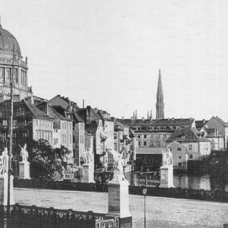 Berliner Schloss und Schlossfreiheit um 1860
