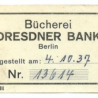 Exlibris Bücherei Dresdner Bank
