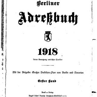 Berliner Adressbuch 1918