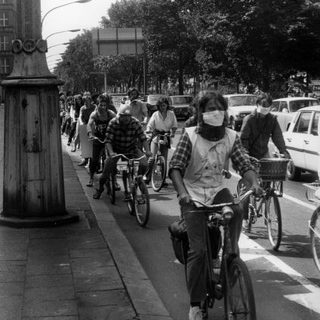 Fahrrad-Demonstration Ost-Berlin 1982