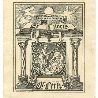 Exlibris Dr. Pertz