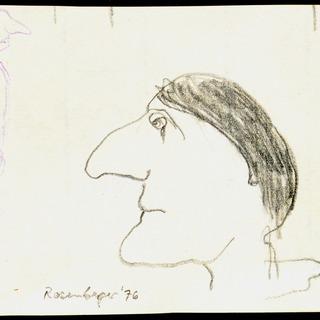 Zeichnung zu Marcel Marceau