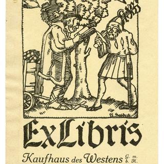 Exlibris Kaufhaus des Westens