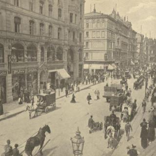 Blick durch die Friedrich-Straße