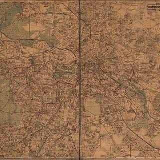 Schwarz Stadtplan von Berlin