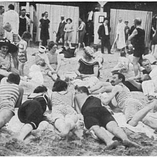 Strandleben im Freibad Wannsee
