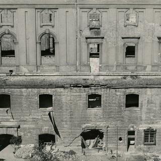 Hoffassade des 1943 zerstörten Spreeflügels, Berliner Stadtbibliothek