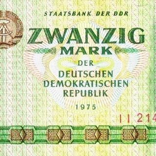 Banknote: Zwanzig Mark der Deutschen Demokratischen Republik