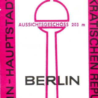3x Eintrittskarten für Berliner Fernsehturm
