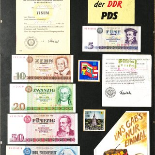 Collage zur Wendezeit in Berlin