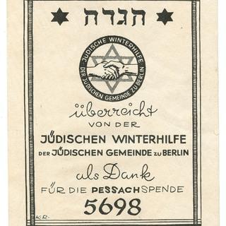 Exlibris jüdische Winterhilfe