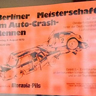 Plakat: Berliner Meisterschaft im Auto-Crash-Rennen am 9.August 1970