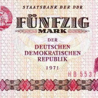 Banknote: Fünfzig Mark der Deutschen Demokratischen Republik