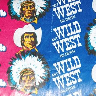 Kaugummipapier: Bubblegum bigbub mit Wildwestbildern