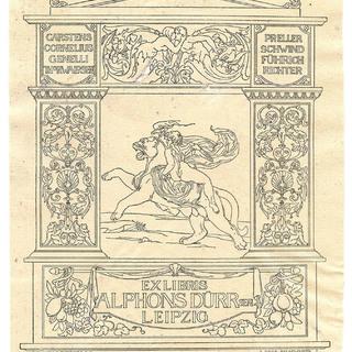 Exlibris Alphons Dürr