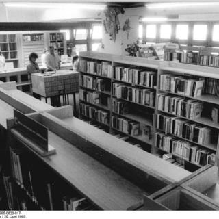 Berlin, öffentliche Bibliothek, Innenansicht