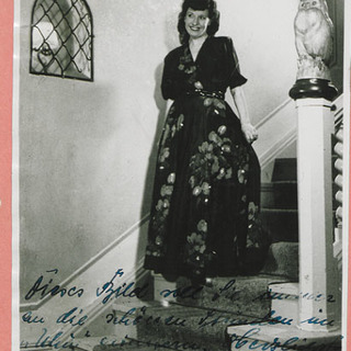 Autogrammkarte Irmgard Bruse