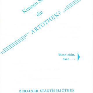 Broschüre zur Artothek der Berliner Stadtbibliothek