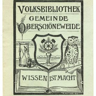 Exlibris Volksbibliothek Gemeinde Oberschöneweide