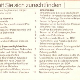 Als Westberliner in die Hauptstadt der DDR