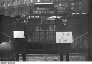 BVG-Streik am Potsdamer Platz