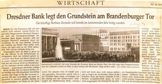 Dresdner Bank legen den Grundstein für ... (cd01-008-g80-m85)