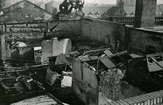 Dachboden des 1943 zestörten Spreeflügels, Berliner Stadtbibliothek
