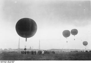 Berlin - Tempelhof, Start von Freiballons