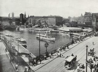 Die Dampfschiff-Station an der Jannowitz-Brücke