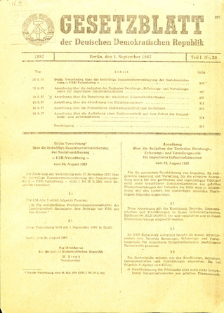 Gesetzblatt der DDR