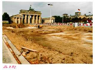 Bauarbeiten am Pariser Platz