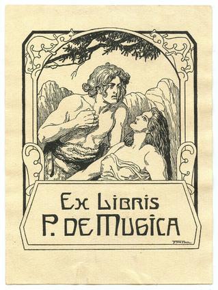 Exlibris Pedro de Mugica