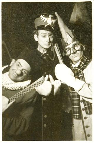 """Klaus Deppe, Herbert Weißbach und Eric Ode im """"Nürnberger Trichter"""""""