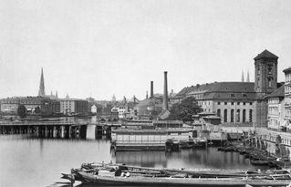 Waisenbrücke und Waisenhaus 1880