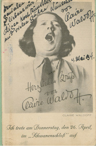 Autogrammkarte Claire Waldoff 1934